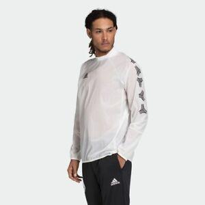 Adidas Men's TAN Fundamental Woven Piste Top Soccer Jacket White size Medium