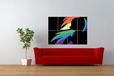 PAINTING  SILHOUETTE RAINBOW DASH MY LITTLE PONY GIANT ART PRINT POSTER NOR0840