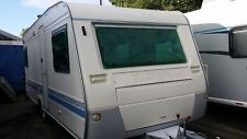 Large Adria fixed bed single axle touring caravan