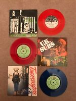 "3x UK Subs 7"" C.I.D / Live In A Car / B.I.C Rare Red Record Bundle Punk FREE P&P"