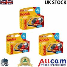 3 Pack: Kodak funflash singolo utente Flash Fotocamera 800asa 27+12 gratis, nuove