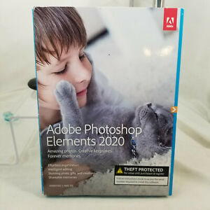 Adobe Photoshop Elements 2020 Windows PC Mac Disc DVD Version, NEW