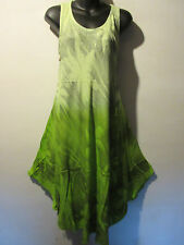 Dress Fit 1X 2X 3X Plus Black Green Palm Tree Print Sundress A Shape Tie Dye 853