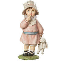 Bethany Lowe Easter Greeting Girl Child Bunny Rabbit Figurine Retro Vntg Decor