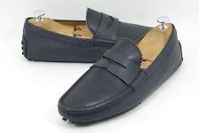 Gucci 'Damo' Diamante Driving Shoe Blue Leather Size 7 G UK  8 US #255350