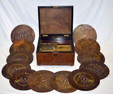 ANTICO GRAMMOFONO POLYPHON MUSIC BOX POLYDOR CARILLON  GRAMOPHONE 13 DISCHI ARTE