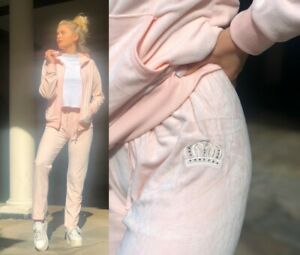 NEW Ladies Ex Store Pink Hooded Activewear Tracksuit Womens Cuffed Jogger Hoodie