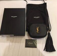 Saint Laurent YSL in pelle nera e oro Blogger Borsa esaurita Nuovo di Zecca Borsetta