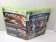 Xbox 360 Dual Pack Marvel Ultimate Alliance & Forza Motorsport 2 Game Lot