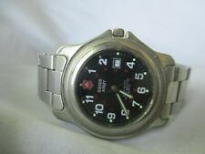 Swiss Army 300 Meter Water Resistant Metal Link Wristwatch WORKING!