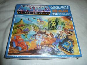 "READ NISB Vtg 1983 Mattel MOTU He Man - A Battle Royal #4789 Puzzle 22x33"" 300pc"