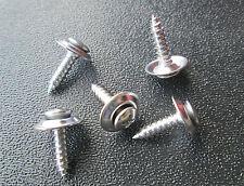 "CHROME 10 x 3/4"" #8 Phillips Oval Loose Head Washer SEMS Trim Screws"
