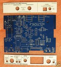 DIY PCB + panels - Sound Card Interface / RMS Voltmeter