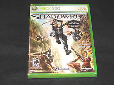 SHADOWRUN - XBOX 360 GAME SHADOW RUN SEALED **BRAND NEW**