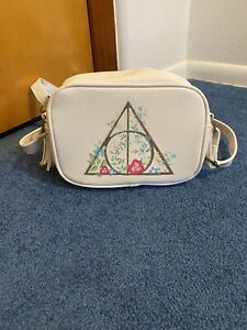 Loungefly Harry Potter Floral Deathly Hallows Crossbody Bag Purse