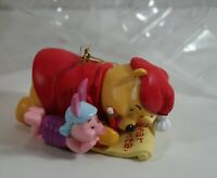 Disney Winnie The Pooh Christmas Ornament Pooh & Piglet Making a List In Box