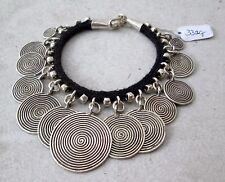 NiCe! Hmong Hill Tribe Unisex Silver & Hemp Bracelet 7 Inches