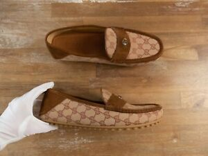 $520 GUCCI permanent collection GG logo driving loafers - 12 US / 45.5 / 11.5 UK
