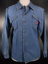 Warm Women's Medium Dickies Blue Jean Denim Long Sleeve Button Denim Shirt GUC