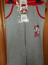 Disney Minnie Mouse jogging bottoms trousers GREY RED TRIM Age 8 (128 cm) NEW