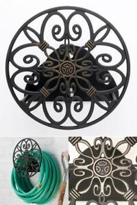 Garden Hose Hanger Decorative Hose Butler Wrap Around Reel, Rust Resistant