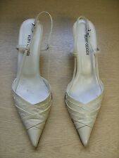 Ladies Shoes Kurt Geiger nude leather sling-back, size UK 6.5, EU 39.5, 3384
