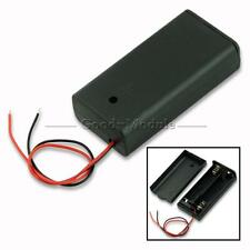 New 2 AA 2A Battery Holder Box Case with ON/OFF Switch and Cover for 2AA battery