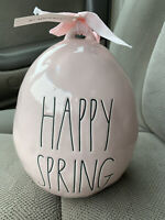 Rae Dunn Happy Spring Easter Egg Pink Ceramic New With Tags