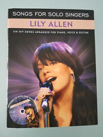 SONGS FOR SOLO SINGERS - Lily Allen - 6 Hits Songs - PIANO - VOICE - GUITAR - CD
