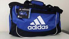 NWT ADIDAS DEFENSE SMALL DUFFEL Blue Black White Sport Gym Carry-on Bag 19x11x11