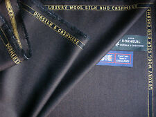 """DORMEUIL """"DORSILK & CASHMERE"""" LUXURY SUITING FABRIC - 3.4 m. - MADE IN ENGLAND"""