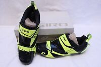 New Men's Giro Mele Tri Black Cycling Shoes SPD-SL 45.5 11.5 EC70 Carbon $200
