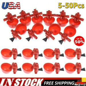 50X Poultry Automatic Quail Water Drinker Drinking Cup Bird Coop Chick Feed Cup√