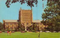Tulsa OK~University of Tulsa Campus~McFarlin Library~Volkswagens~1969 Postcard