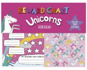Unicorn Reward Chart Kids Potty Eating Beahviour Booklet With Stickers FAST POST