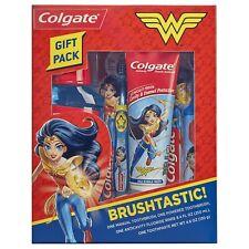 Colgate Kids Toothbrush, Toothpaste, and Mouthwash Set, Wonder Woman