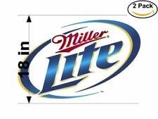 Beer Blue Circle Miller Lite Logo 2 Stickers 18 Inches Sticker Decal.Jpeg