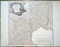 XVIII ème- Gouv du Languedoc de Foix & Roussillon Carte par Vaugondy Editée 1770