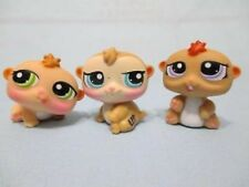Littlest Pet Shop Lot Triplets Hamsters 1477 1478 1479 Set Brown LOT