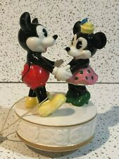 Vintage Schmid Mickey and Minnie Music Box with Pause Switch