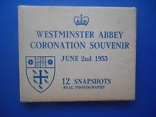 Westminster Abbey Queen Elizabeth Coronation Souvenir 12 snapshots in booklet