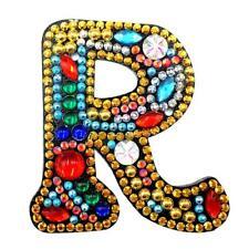DIY Key Chain Full Diamond Painting Letters Women Girl Bag Keyring Pendant Decor