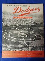 1958 LA Dodgers Score Card