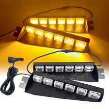 """29"""" Inch 36W Amber LED Warning Emergency Visor Dash Deck Split Strobe Light Bar"""