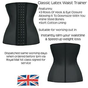 Waist Trainer, Latex Waist Cincher, Slimming, Back Support, Girdle, Shapewear