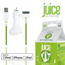 Juice Apple iPhone 30 Pin In Car Charger with Detachable Coil Cable Fast Charge