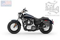 Harley SPORTSTER LEFT Side LEATHER Solo BAG Saddlebag - SL04 BAD&G CustomS