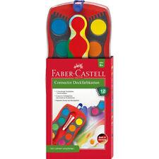 125030 Faber-Castell Farbkasten Connector 12 Farben Wasserfarben Schule