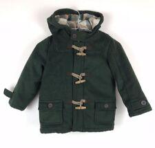 River Island Boys Green Duffle Coat Winter Jacket Kids 4-5 Years A2