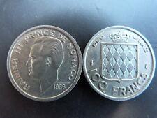 Pièce monnaie MONACO 100 Francs 1956 RAINIER III bon état